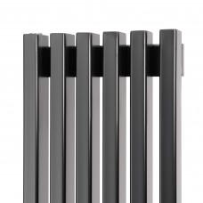 Трубчатый радиатор Loten Grey V 1250 с нижним подключением, 12 секций